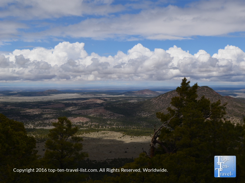 Beautiful overlook along the Slate Mountain trail near Flagstaff, Arizona
