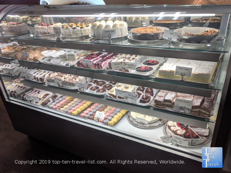 Pastry counter at Old Europe in Greenville, South Carolina