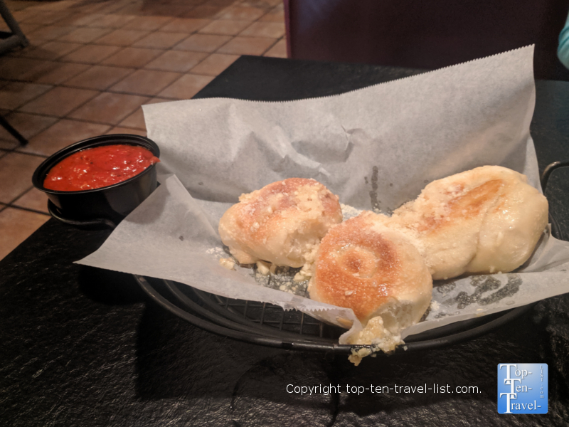 Garlic knots at Taste of Italy in Gatlinburg, TN