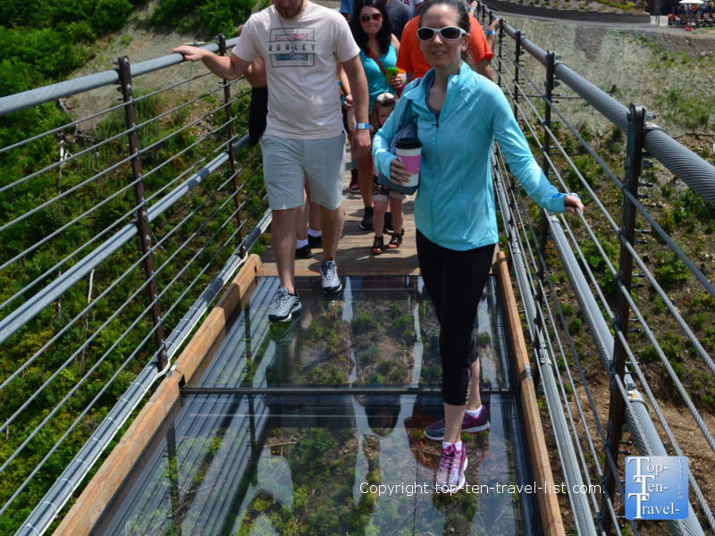 Glass bottom along SkyBridge in Gatlinburg, Tennessee