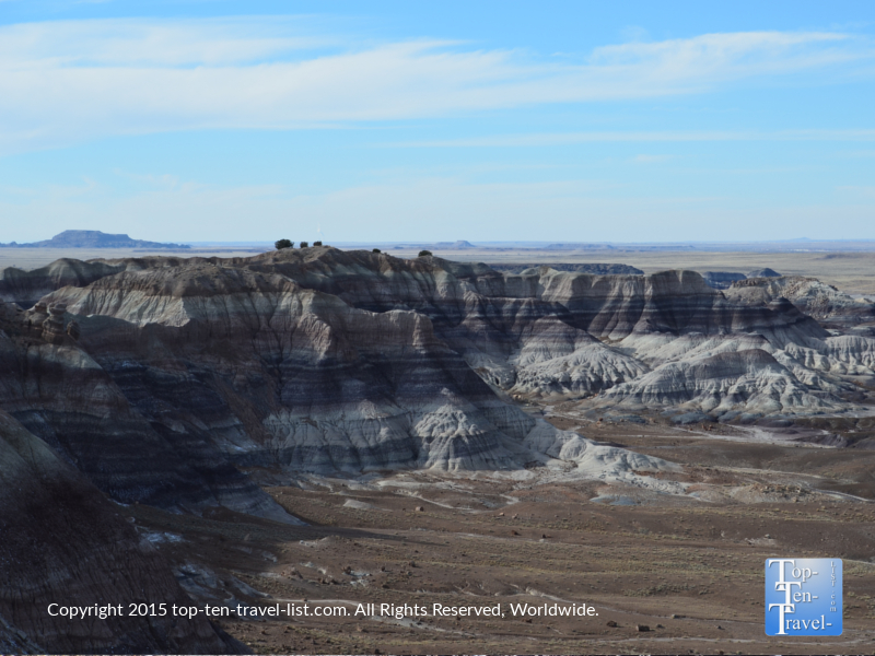 Colorful views of the Painted Desert via the Petrified National Forest in Northern Arizona