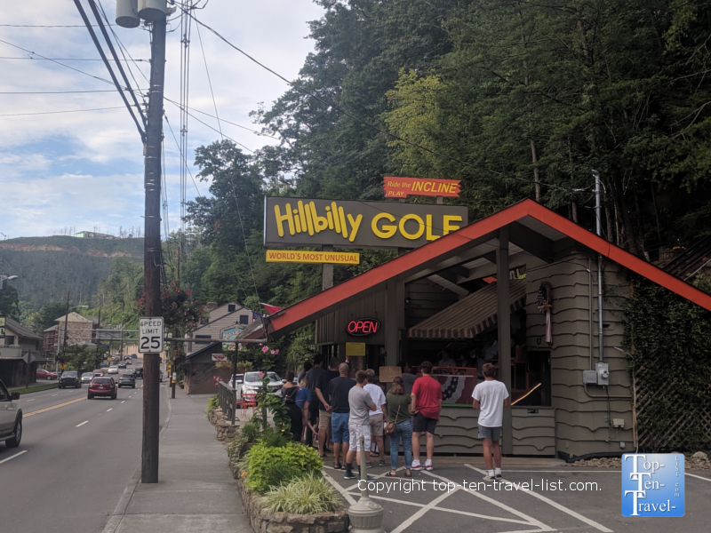 Hillbilly mini golf in Gatlinburg, Tennessee