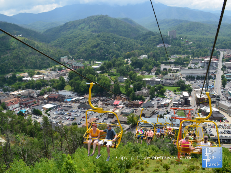 Incredible views via the Sky Lift ride in Gatlinburg, TN