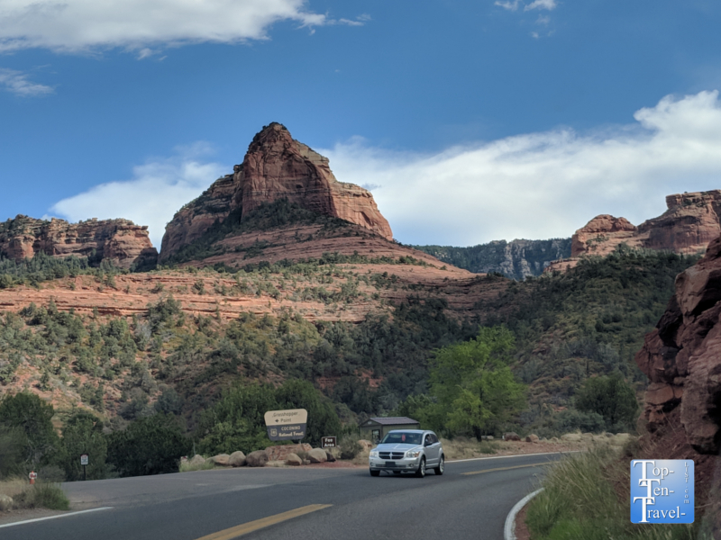 Oak Creek Canyon scenic drive in Arizona