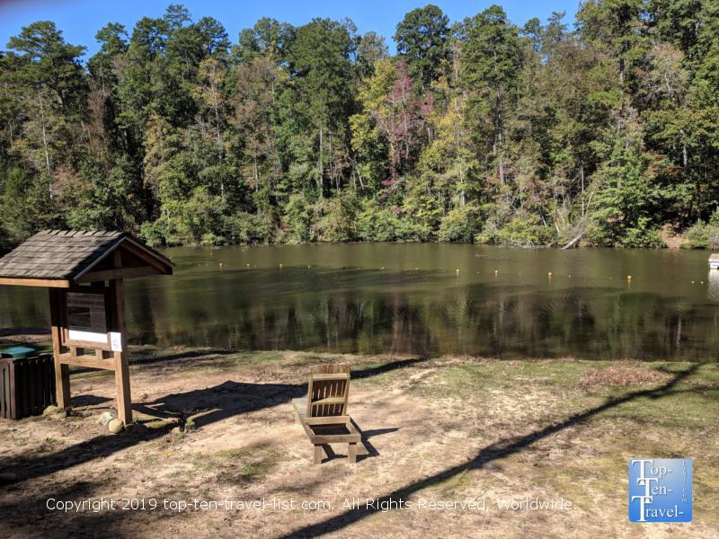 Lake Placid at Paris Mountain State Park in Greenville, South Carolina