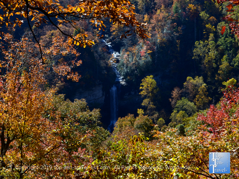 Raven Cliff waterfall at Caesar's Head State Park in Upstate South Carolina