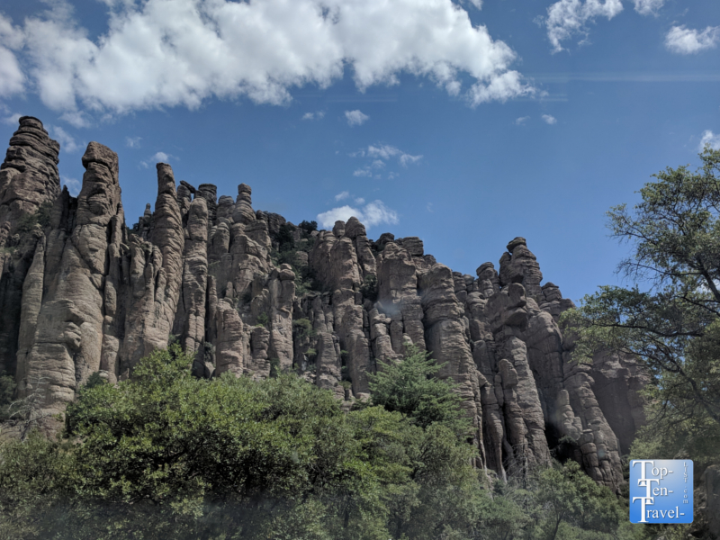 Scenic drive at Chiricahua National Monument in Southern Arizona