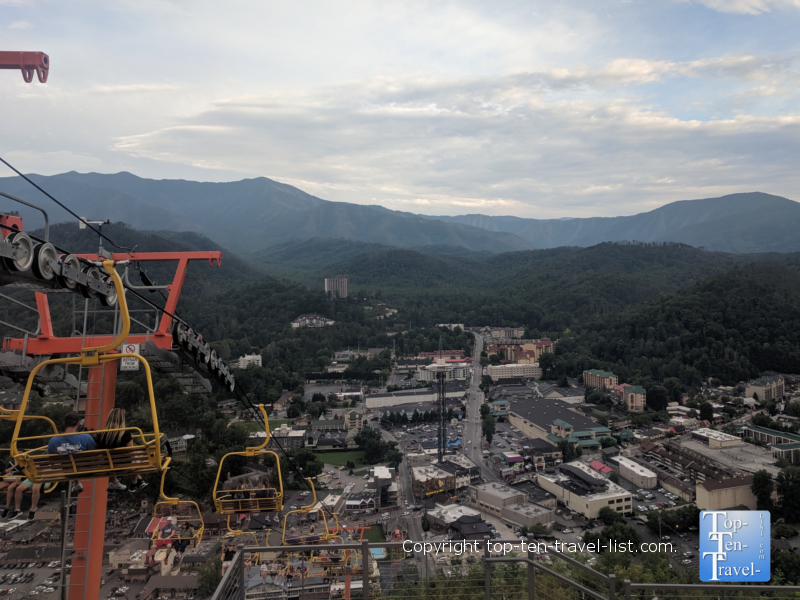 Beautiful views from the SkyLift ride in Gatlinburg, TN