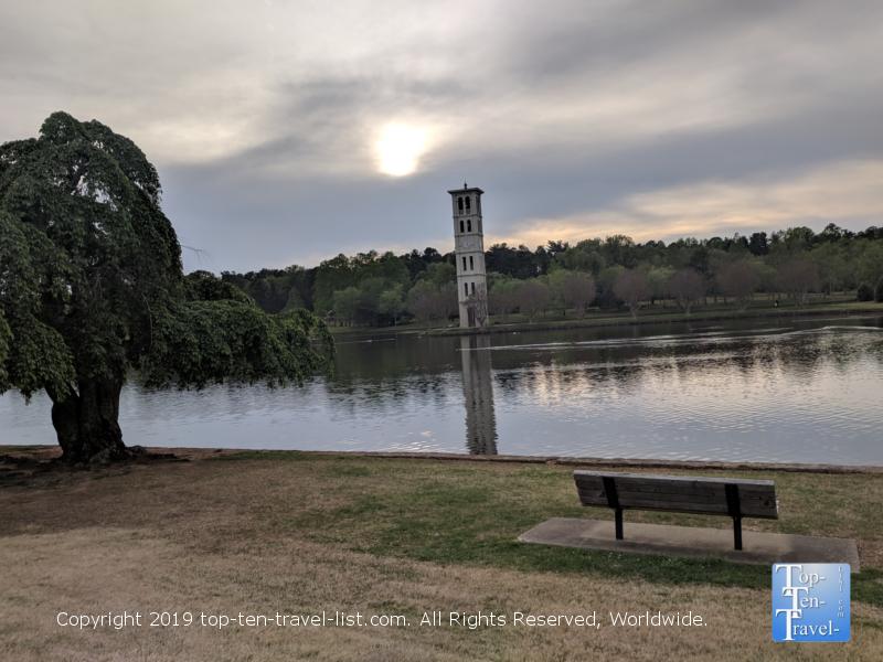 Beautiful lake at Furman University in Greenville, South Carolina