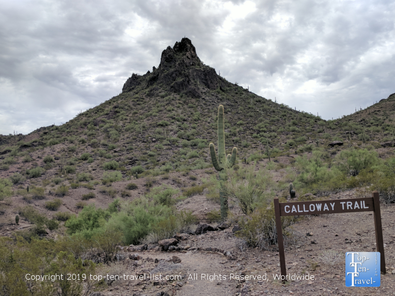 Calloway trail at Picacho Peak State Park in Southern Arizona