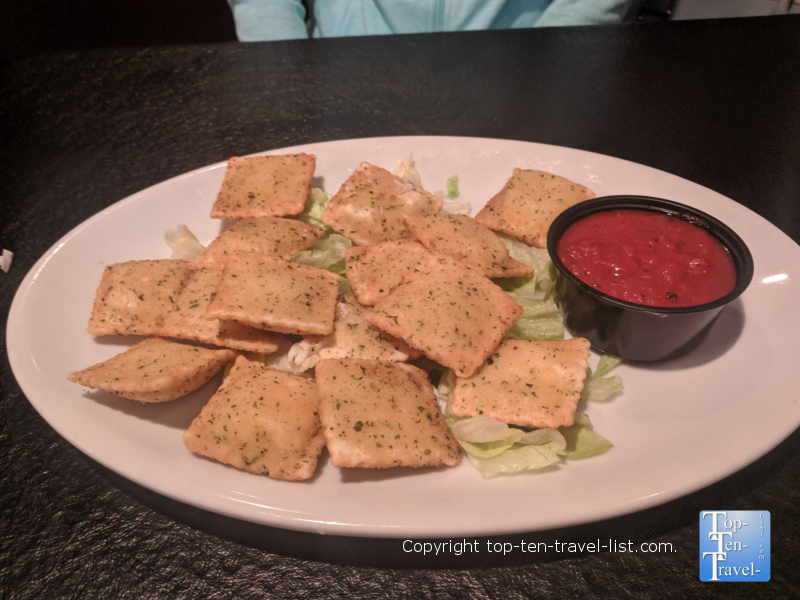 Toasted ravioli at Taste of Italy in Gatlinburg, TN