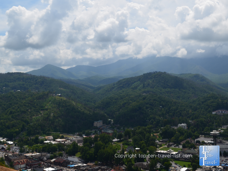 Tremendous mountain scenery from Sky Lift in Gatlinburg, TN