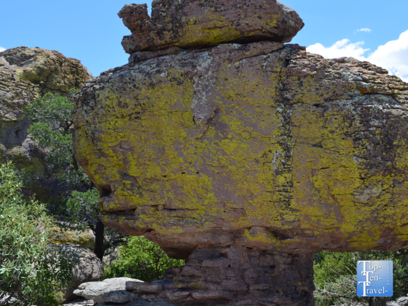 Unique balancing rocks at Chiricahua National Monument in Arizona