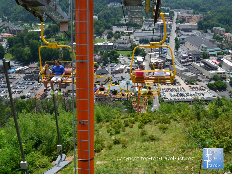 Views from the Gatlinburg Sky Lift ride