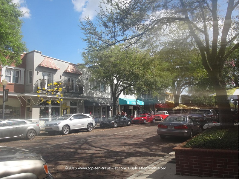 Tree lined downtown Winter Park, Florida