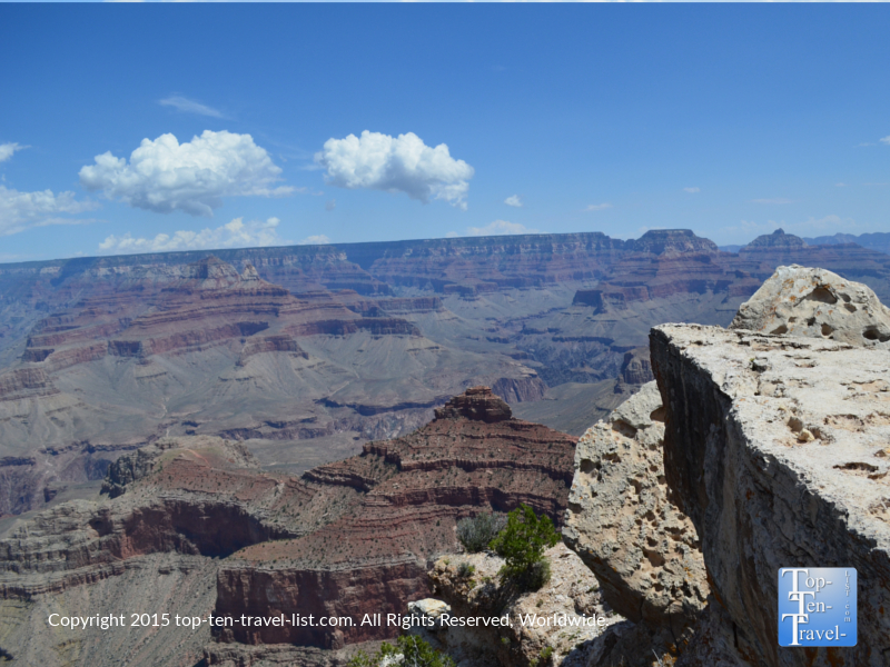 Gorgeous views from the Mather Point overlook at the Grand Canyon