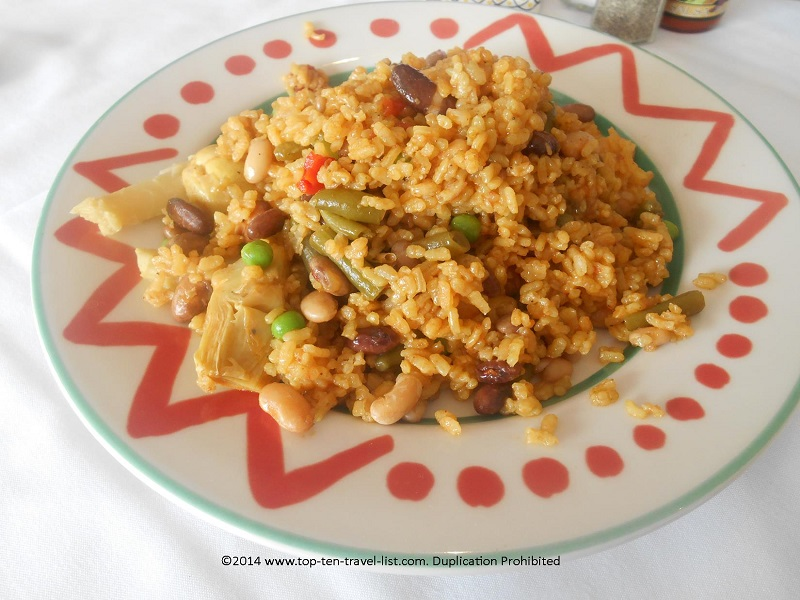 Vegetable Paella at Columbia restaurant in Tampa, Florida