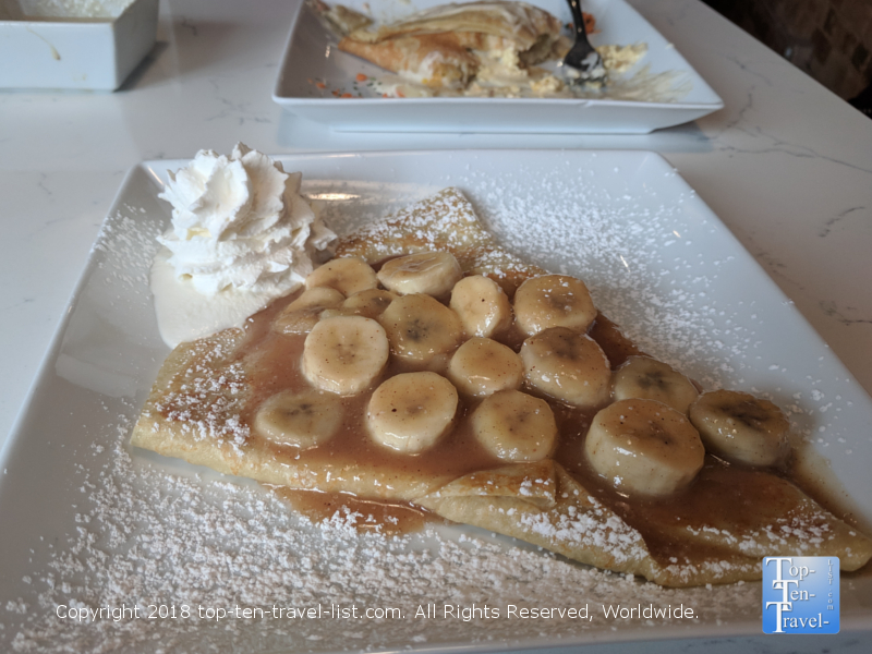 Bananas foster crepe at Crepe du Jour in Greenville, SC
