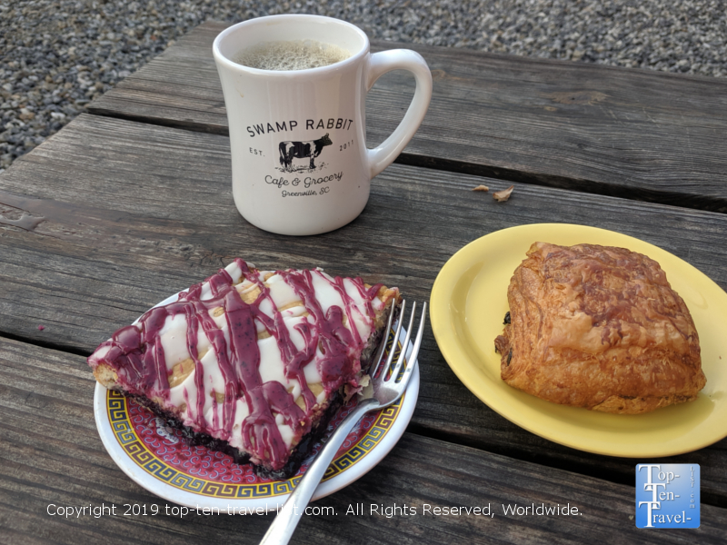 Delicious pastries at the Swamp Rabbit Cafe in Greenville, South Carolina