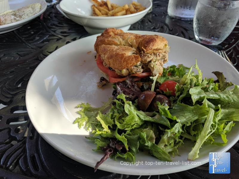 Chicken salad croissant at Passerelle Bistro in Greenville, SC