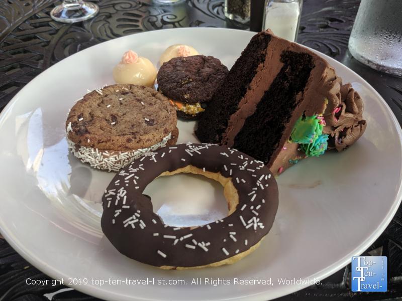 Dessert sampler at Passerelle Bistro in Greenville, South Carolina