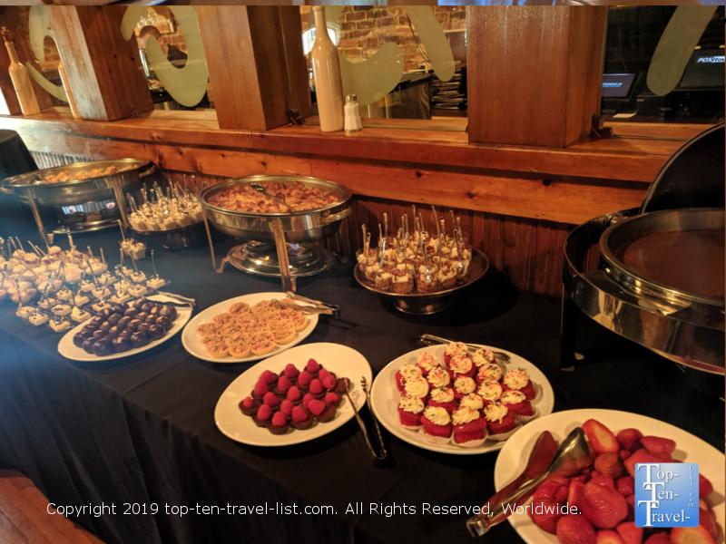 Dessert buffet at Soby's in Greenville, South Carolina