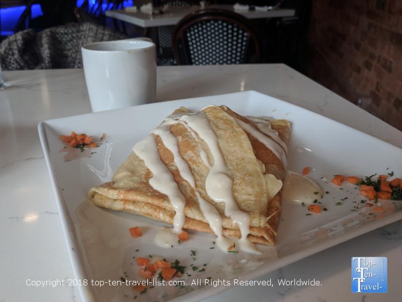 Breakfast crepe at Crepe du Jour in Greenville, South Carolina