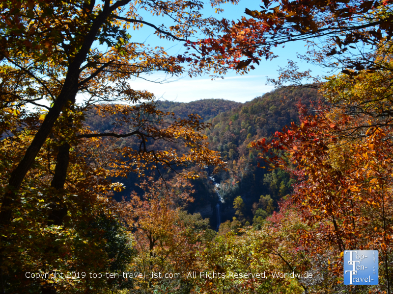 Fall foliage at Caesar's Head State Park in Upstate South Carolina
