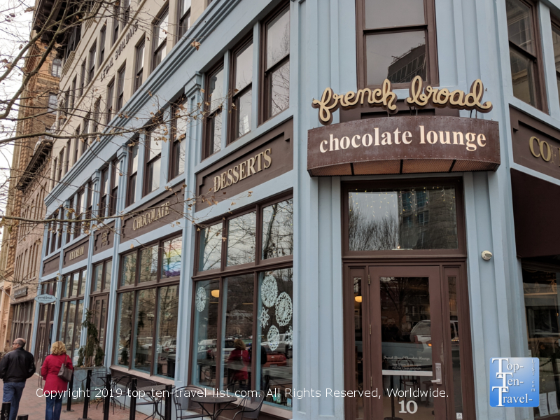 French Broad Chocolate Lounge in downtown Asheville, North Carolina