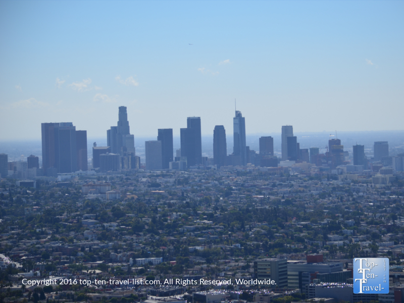 Fantastic view of the L.A. skyline from the Griffith Observatory