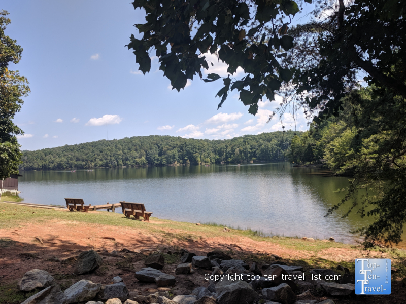 Pretty lake scenery at Croft State Park in Upstate SC