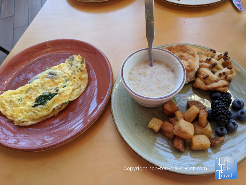 Breakfast buffet at Roost in downtown Greenville, SC