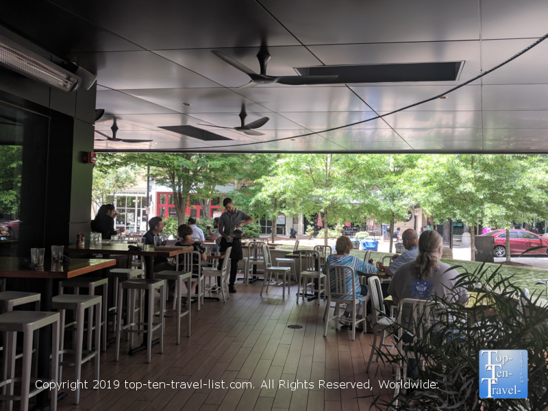 Outdoor dining at Roost in Greenville, South Carolina
