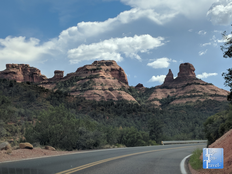 The scenic Oak Creek Canyon drive in Sedona