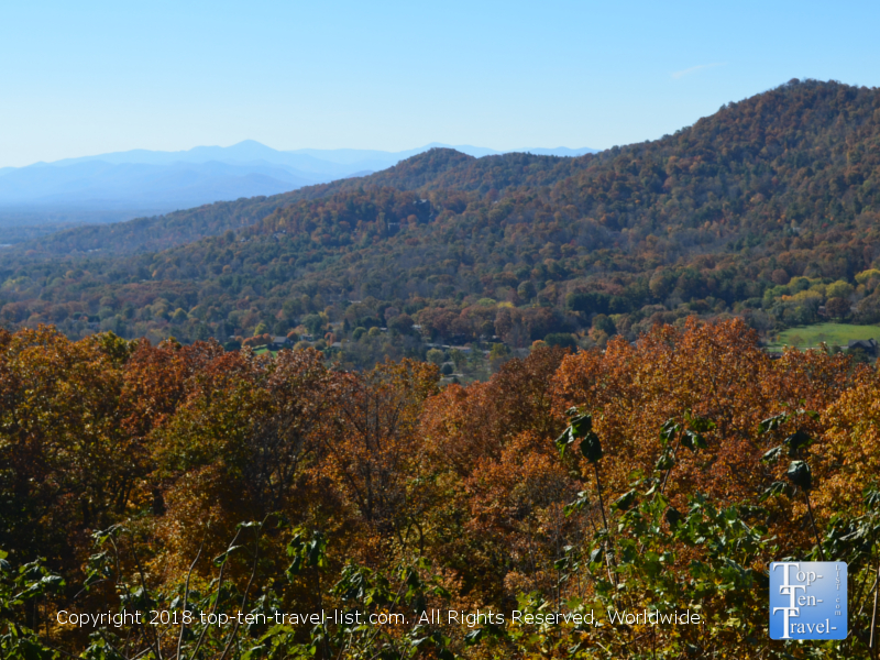 Scenic fall foliage along the Blue Ridge Parkway