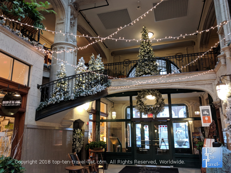 Winter Wonderland at the Grove Arcade in Asheville, North Carolina