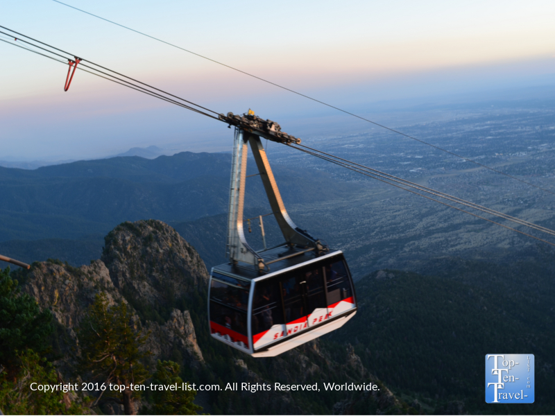 Gorgeous scenery via the Sandia Peak tramway ride in Albuquerque, New Mexico