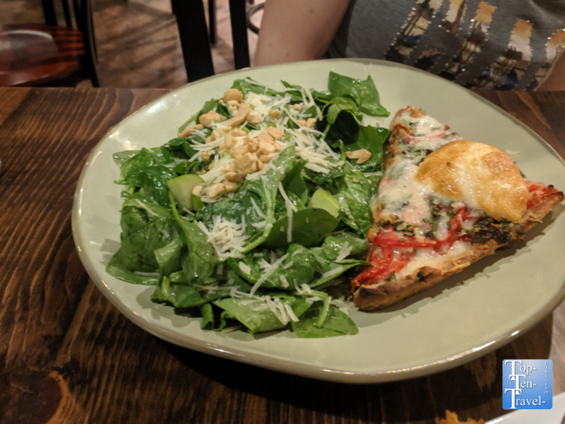 Southern style tomato pie at Kitchen Sync in Greenville, South Carolina
