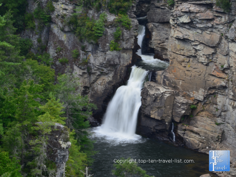 Spectacular Linville Falls along the Blue Ridge Parkway in Western North Carolina