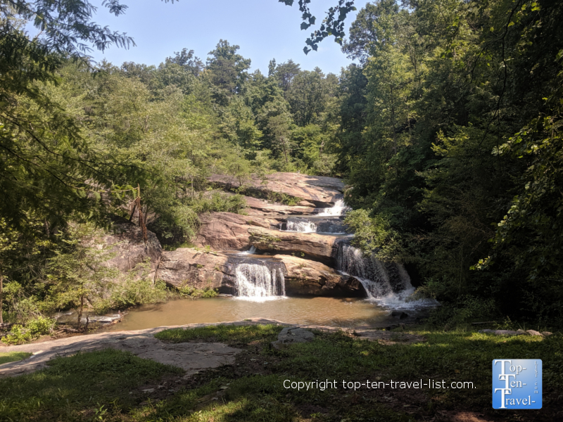 Waterfall at Chau Ram County Park in Upstate South Carolina