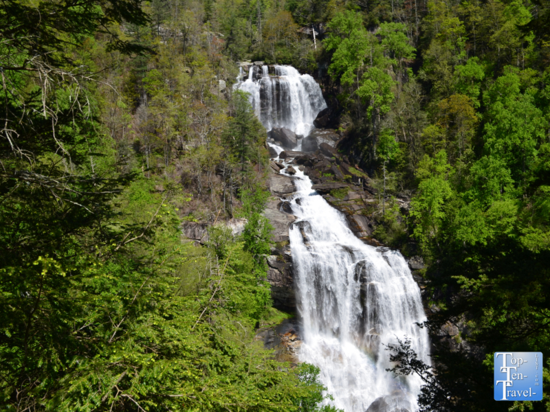 Whitewater Falls in Western North Carolina - the tallest waterfall in the state