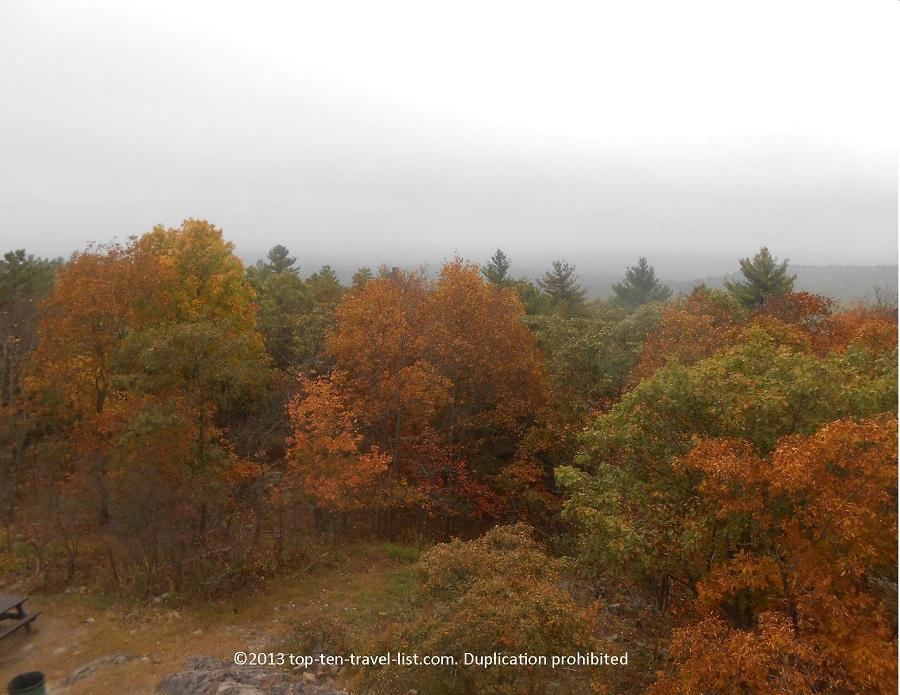 Colorful fall foliage at Blue Hills Reservation near Boston, Massachusetts