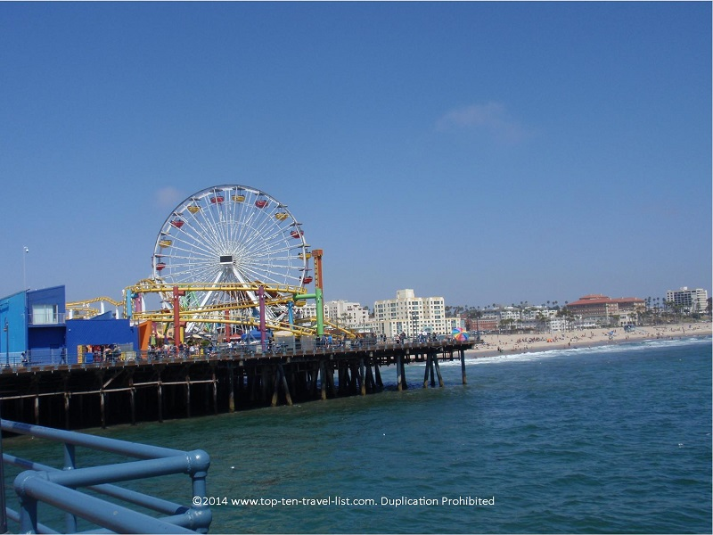 The Santa Monica Pier in Los Angeles