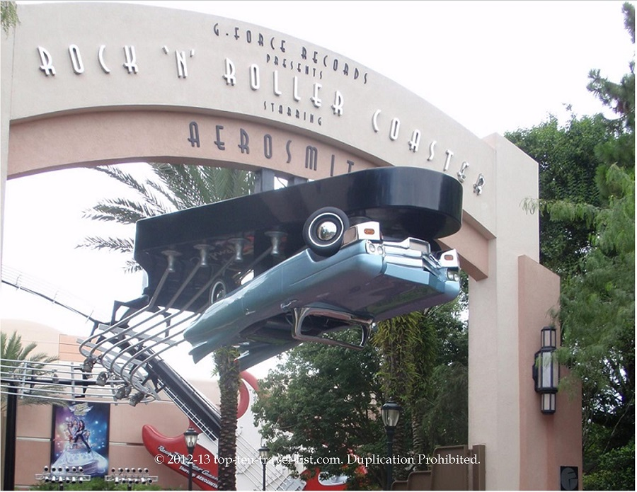Aerosmith Rock N'Roller coaster at Disney's Hollywood Studios in Orlando, Florida
