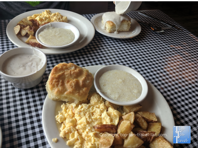 All-you-can-eat breakfast deal at The Moose Cafe in Asheville, North Carolina