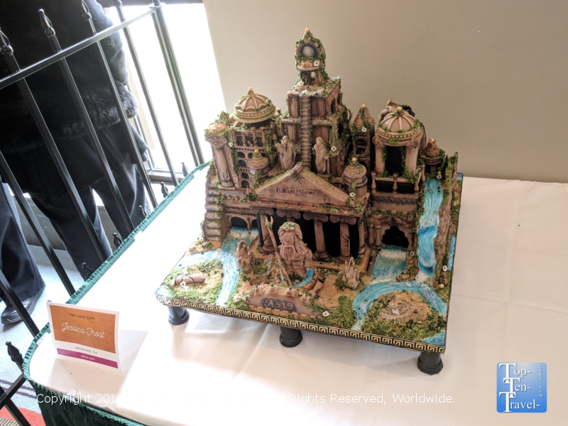 Atlantis gingerbread house at the Omni Park Grove Inn in Asheville, North Carolina