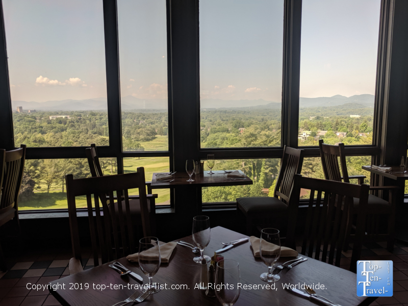 Gorgeous mountain setting at the Blue Ridge Artisanal Buffet at the Omni Park Grove Inn in Asheville, NC