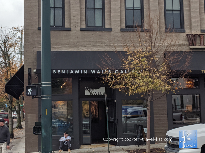 Benjamin Walls Gallery in downtown Asheville, NC
