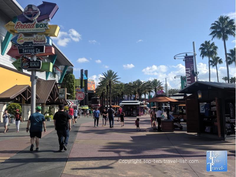 CityWalk at Universal Studios in Orlando, Florida