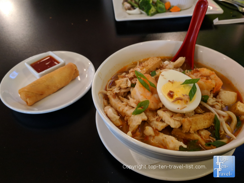 Delicious food at Yellow Ginger in Greenville, South Carolina